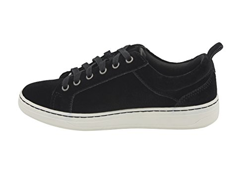 Womens Fashion Earth Sneakers Velvet Lace Zag Low Up Top Black qBB6Cgwd