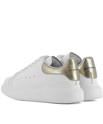 Blanco Zapatillas Alexander Cuero Mujer Mcqueen 462214whfbu9075 XqXwAtO