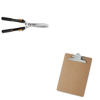 KITFSK91696935JUNV40304 - Value Kit - Fiskars Telescoping Power-Lever Hedge Shears (FSK91696935J) and Universal 40304 Letter Size Clipboards (UNV40304)