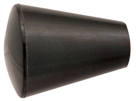 3/4 dia., 10-32 thds., Oval/Tapered Plastic Knob w/Black Brass Insert (1 Each) Reid Supply Company