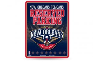- NBA New Orleans Pelicans 8-Inch by 11-Inch Metal Parking Sign Décor