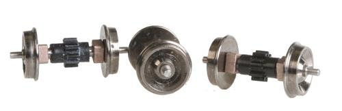 - Replacement Geared Driver Assembly (Diesel Wheelset) pkg(3) -- For Early PROTO 2000(R) E6/7/8/9