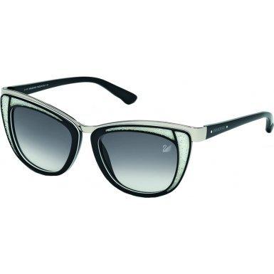 Swarovski Women's Diva Wayfarer Sunglasses,Black,53 - Sunglasses Swarovski