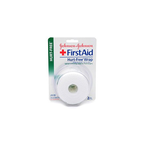 (Johnson & Johnson First Aid Hurt-Free Wrap (2-Inch), 1-Count Rolls (Pack of 4))