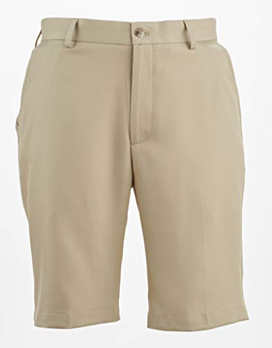(Greg Norman Classic Flat Front Shorts Bamboo 32)