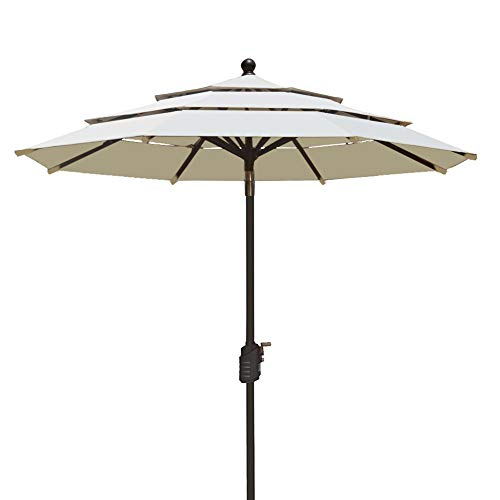 Cheap  EliteShade Sunbrella 9Ft Patio Outdoor Table Umbrella 3 Layers with Ventilation,Bonus Weatherproof..