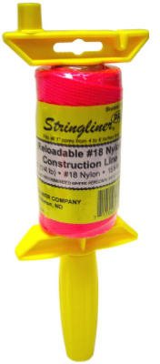 Stringliner 25162 1/8'' Lb Braided Pink NylonPro ReelReloadable Construction Ln by Stringliner Company