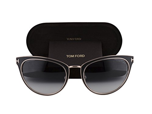 Tom Ford Nina TF0373 Shiny Black w/Grey Gradient 01B