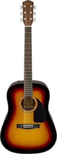 Fender CD-60 Dreadnaught Acoustic Guitar (V3) – With Case – Sunburst – Walnut Fingerboard