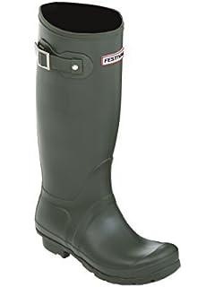 Unisex-Adult Strap Wellington Boots Green 10 UKGrisport