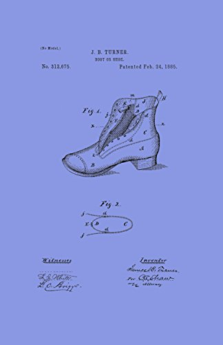 Framable Patent Art the Original Poster Art Print Vintage Footwear Shoe Boot 11in by 17in Patent Light PAPSSP112LV, Violet (Violet Footwear Patent)