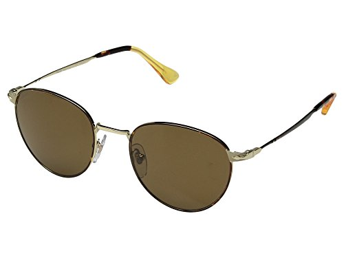 Persol  Men's 0PO2445S Gold Havana/Crystal Brown Polarized One - Keyhole Sunglasses Persol