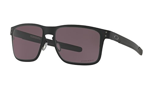 Oakley Holbrook Metal Sunglasses Matte Black with Prizm Grey Lens + - Prizm Holbrook Metal Polarized