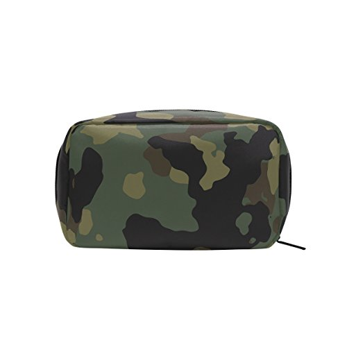 Military Camo Camouflage Pattern Print Makeup Bag Multi Compartment Pouch Storage Cosmetic Bags]()