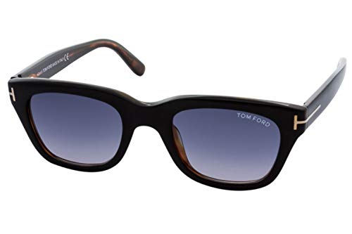 Tom Ford Sunglasses - Snowdon / Frame: Shiny Black with Brown Lens: Grey ()