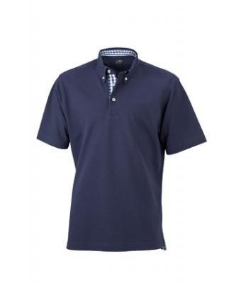 JAMES & NICHOLSON Men Plain Polo Poloshirt Herren , Größe:XL;Farbe:royal-royal white