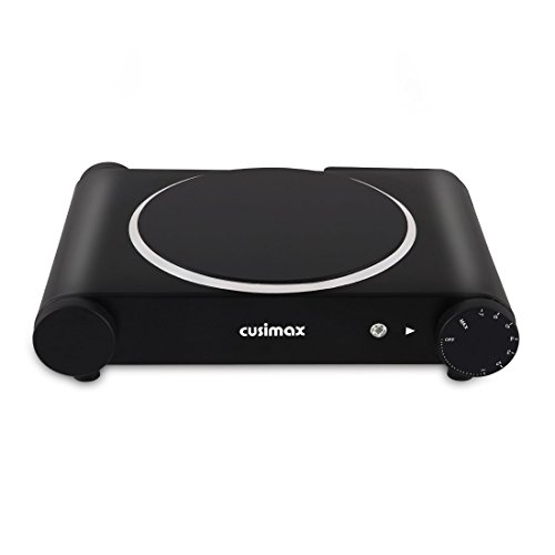 Cusimax Single Countertop Burner, Portable Infrared Cooktop, CMIP-B120, Black (Stainless Steel) by CUSIMAX (Image #3)