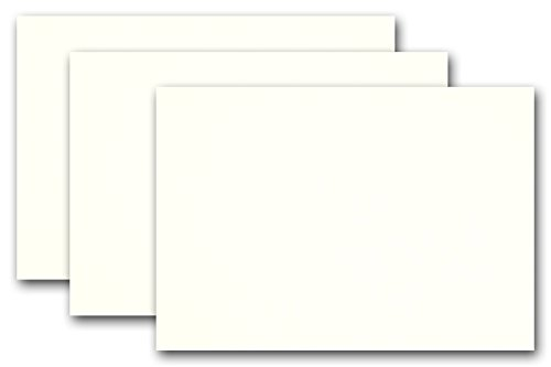 Blank Whip Cream Ivory 5x7 Flat Card Invitations - 100 Pack