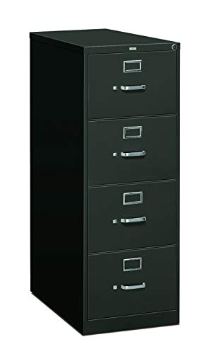 HON 4-Drawer Filing Cabinet - 310 Series Full-Suspension Legal File Cabinet, 26-1/2-Inch Drawers, Charcoal (H314C) (Renewed) (Hon 314cp 310 Series)