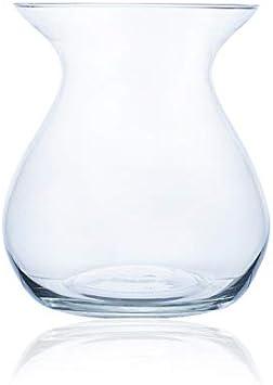 Cristalica Glass Vase Flower Vase Table Vase Glass Bulbous Transparent H 27cm Amazon Ca Home Kitchen