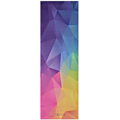 Oeco Plus 1.5mm Printed Microfiber Printed Designs Travel Yoga Mat