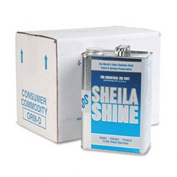 Sheila Shine Stainless Steel Cleaner and Polish, 1 Gallon Can, 4/Carton (4CT) by Sheila Shine