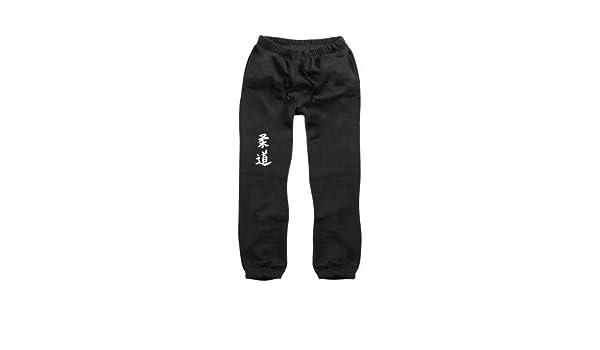 Pantalón de chándal Negro con caracteres Judo en la pierna derecha ...