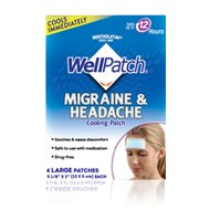WellPatch Cooling Headache Pads, Migraine 4 Pads in a Pack. (Pack of 6)= 24pads by WellPatch