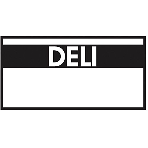Monarch White Labels With Reversed Black Print Deli For 1110 1-Line Pricing Gun - 19mmL x 10mmH by RACO INDUSTRIES LLC