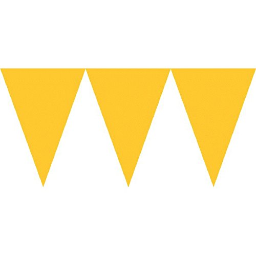 Sunshine Yellow Pennant Banner | Party Decor