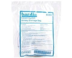 Special 1 Pack of 5 - BARDIA Closed System Drain Bag BRD802002 BARD MEDICAL