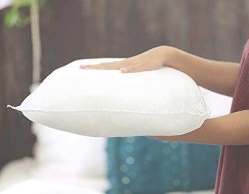 6 Rellenos cojines sofa hipoalergénicas + 6 fundas cojines lisos decoracion y para almohadas de cama 45x45cm
