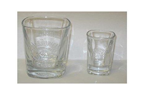 JACK DANIEL'S Old No. 7 Rocks Bar Glass (8 Oz) and Shot G...