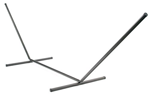 Smart Garden 75103-BZ Belize Metal Double Hammock Stand with 2-Inch Diameter and 12 Gauge Steel Construction for Up To 450 Pounds