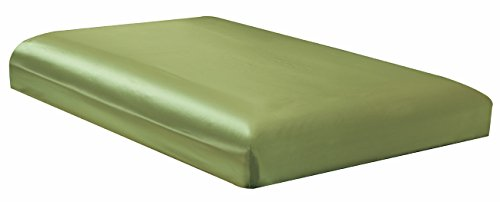 Price comparison product image QUEEN size, Bridal SATIN Solid Sage Green Fitted Bed Sheet - Super Silky & Soft - SALE - High Thread Count - 1500 Series-Wrinkle, Fade, Stain Resistant, Deep Pockets, 100%