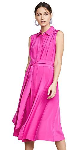 Diane von Furstenberg Women's Demi Dress, Ribbon Pink, Small Diane Von Furstenberg Silk Dress