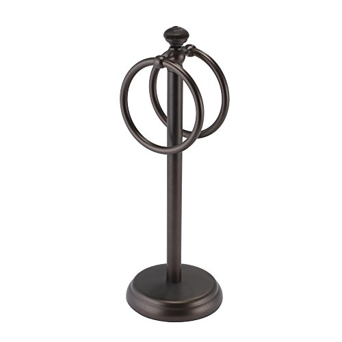 Mdesign Metal Hand Towel Holder For Bathroom Vanities Bronze New