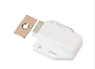 Medium White Door (Sugatsune Touch Latch Magnetic For Medium Doors White - 2 Pack)