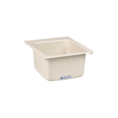 Mustee 11BT Utility Sink, 17-Inch x 20-Inch, Biscuit by Mustee