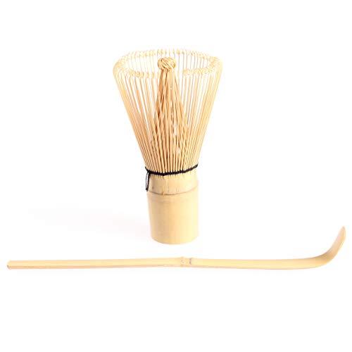 Goodwei Kit Utensilios para te Matcha Batidor de bambu Chasen 80 Varillas con Cuchara Chashaku