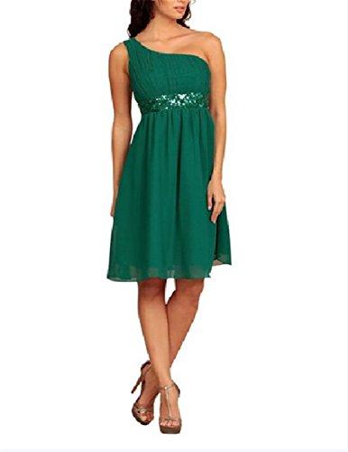 Super Prom One Shoulder Kleider Pailletten abendkleider knielang ...
