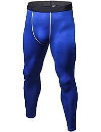 Mens Long Tights Compression Base Layer Pants for Running Cycling Football