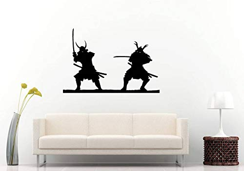 AdecalsNew Wall Decals Cute-Japanese Samurai Fight Sword Battle Ninja Ancient Armor Warriors Wall Sticker Decal Vinyl Mural Decor Art - Made in USA-Fast delivery ()