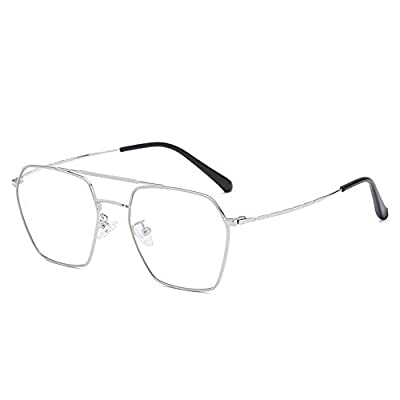 FeliciaJuan Adult Glasses Restore Ancient Ways Round Metal Box Frames General Computer Goggles Men and Women