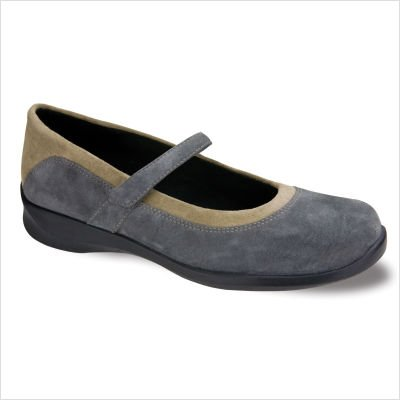 Aetrex Women's Julia Orthotic Shoes,Grey,10.5 XW US