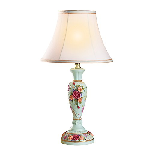 Collections Etc Victorian Rose Flower Table Lamp, Large Floral Collection Rose