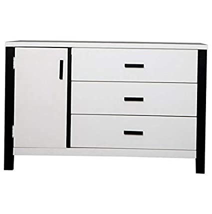 Amazon.com: Hebel Cafeina 3 Drawer Dresser Combo, White ...