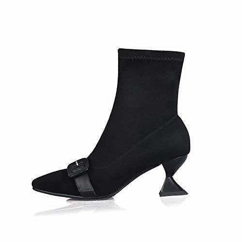 Quadrata Antiscivolo Ig 37 nero Stivali Donna Invernali Caldi Appuntiti A Da Moda 34 Radice stivali 39 n6nzxZrq