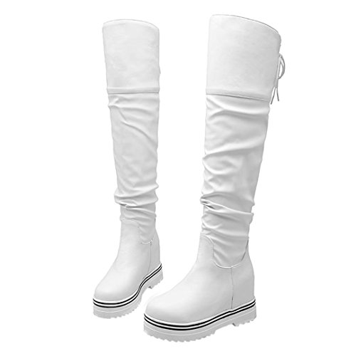 Classic Women's AIYOUMEI AIYOUMEI Women's White Boot qv67SE6