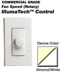 Fan Speed & Lighting Controls RTF01-AW Leviton Decora IllumaTech Fan Speed Control